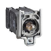 Schneider ZB4BW055 Harmony fém jelzőlámpa és érintkező blokk rögzítő aljzattal, BA9s izzós, transzformátoros, 1NO+1NC, 400VAC