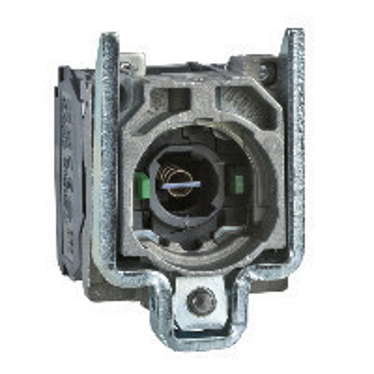 Schneider ZB4BW063 Harmony fém jelzőlámpa és érintkező blokk rögzítő aljzattal, BA9s foglalatos, 2NO, 250V