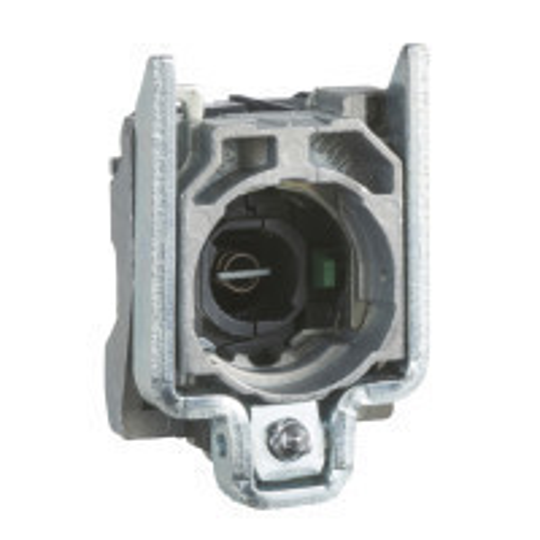 Schneider ZB4BW065 Harmony fém jelzőlámpa és érintkező blokk rögzítő aljzattal, BA9s foglalatos, 1NO+1NC, 250V