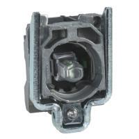 Schneider ZB4BW0B62 Harmony fém jelzőlámpa és érintkező blokk rögzítő aljzattal, LED-es, 1NC, 24VAC/DC, kék