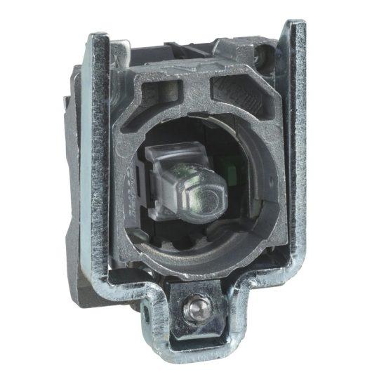 Schneider ZB4BW0B65 Harmony fém jelzőlámpa és érintkező blokk rögzítő aljzattal, LED-es, 1NO+1NC, 24VAC/DC, kék