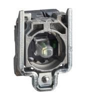 Schneider ZB4BW0G414 Harmony fém jelzőlámpa és érintkező blokk rögzítő aljzattal, LED-es, 1NO, 120VAC, piros, dugaszolós csatlakozós