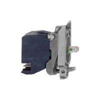 Schneider ZB4BW0M354 Harmony fém jelzőlámpa és érintkező blokk rögzítő aljzattal, LED-es, 1NO+1NC, 230VAC, zöld, dugaszolós csatlakozós
