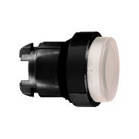 Schneider ZB4BW1137 Harmony fém világító nyomógomb fej, Ø22, visszatérő, LED-es, kiemelkedő, fehér, fekete perem