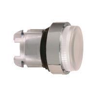 Schneider ZB4BW113S Harmony fém világító nyomógomb fej, Ø22, visszatérő, LED-es, kiemelkedő, hornyolt lencsével, fehér