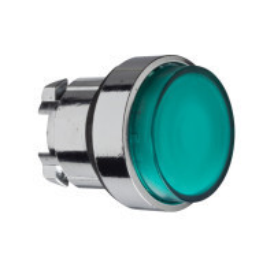 Schneider ZB4BW133 Harmony fém világító nyomógomb fej, Ø22, visszatérő, LED-es, kiemelkedő, zöld