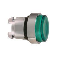 Schneider ZB4BW133S Harmony fém világító nyomógomb fej, Ø22, visszatérő, LED-es, kiemelkedő, hornyolt lencsével, zöld