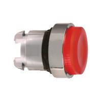 Schneider ZB4BW143S Harmony fém világító nyomógomb fej, Ø22, visszatérő, LED-es, kiemelkedő, hornyolt lencsével, piros