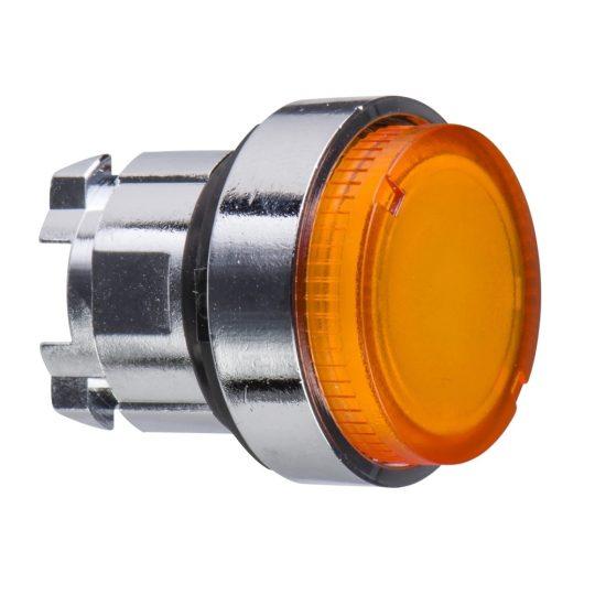 Schneider ZB4BW15 Harmony fém világító nyomógomb fej, Ø22, visszatérő, BA9s foglalatos, kiemelkedő, narancssárga