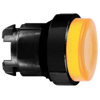 Schneider ZB4BW157 Harmony fém világító nyomógomb fej, Ø22, visszatérő, BA9s foglalatos, kiemelkedő, narancssárga, fekete perem