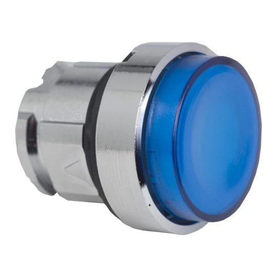 Schneider ZB4BW163 Harmony fém világító nyomógomb fej, Ø22, visszatérő, LED-es, kiemelkedő, kék