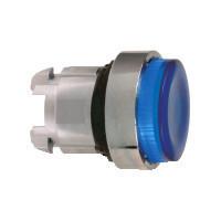 Schneider ZB4BW163S Harmony fém világító nyomógomb fej, Ø22, visszatérő, LED-es, kiemelkedő, hornyolt lencsével, kék