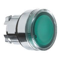 Schneider ZB4BW33TQ Harmony fém világító nyomógomb fej, Ø22, visszatérő, BA9s izzóhoz, zöld 100 darabos csomagban