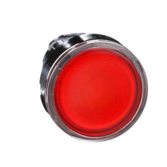 Schneider ZB4BW343 Harmony fém világító nyomógomb fej, Ø22, visszatérő, beépített LED-hez, piros
