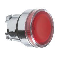 Schneider ZB4BW343TQ Harmony fém világító nyomógomb fej, Ø22, visszatérő, beépített LED-hez, piros 100 darabos csomagban