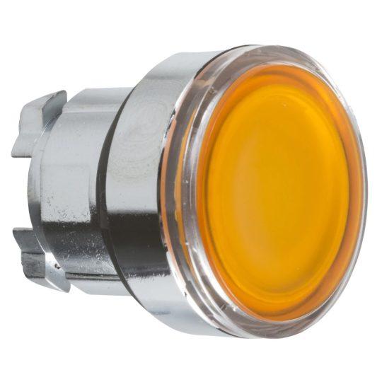 Schneider ZB4BW353 Harmony fém világító nyomógomb fej, Ø22, visszatérő, beépített LED-hez, narancssárga