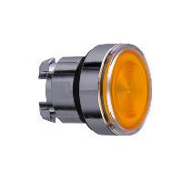 Schneider ZB4BW35S Harmony fém világító nyomógomb fej, Ø22, visszatérő, BA9s izzóhoz, hornyolt lencsével, narancssárga