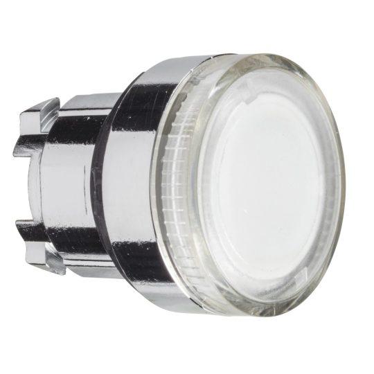 Schneider ZB4BW37 Harmony fém világító nyomógomb fej, Ø22, visszatérő, BA9s izzóhoz, színtelen