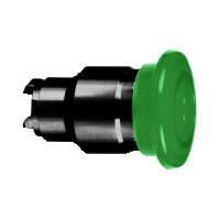 Schneider ZB4BW4337 Harmony fém világító nyomógomb fej, Ø22, visszatérő, Ø40 gombafejű, beépített LED-hez, zöld, fekete test