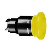 Schneider ZB4BW4537 Harmony fém világító nyomógomb fej, Ø22, visszatérő, Ø40 gombafejű, beépített LED-hez, narancssárga, fekete test