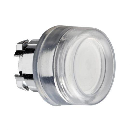 Schneider ZB4BW513 Harmony fém világító nyomógomb fej, Ø22, visszatérő, védősapkás, beépített LED-hez, fehér