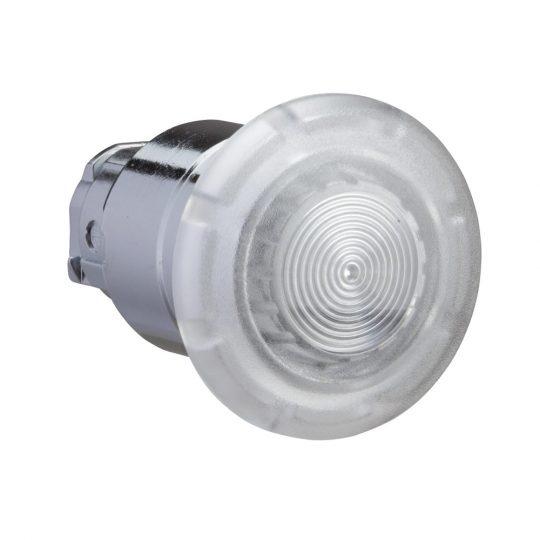 Schneider ZB4BW613 Harmony fém világító nyomógomb fej, Ø22, húzásra kioldó, Ø40 gombafejű, beépített LED-hez, fehér