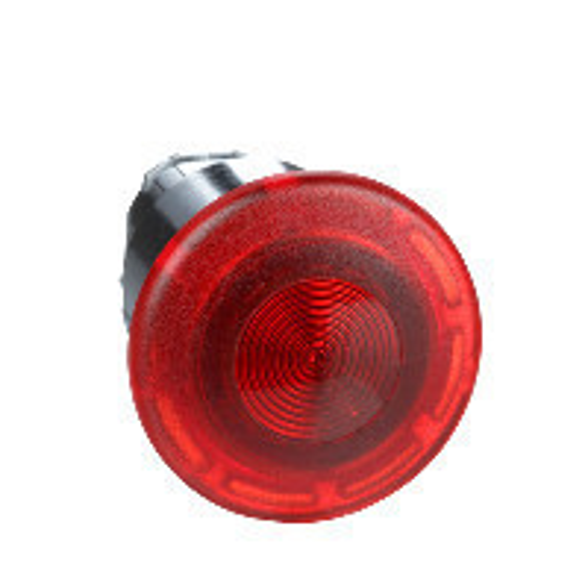 Schneider ZB4BW643 Harmony fém világító nyomógomb fej, Ø22, húzásra kioldó, Ø40 gombafejű, beépített LED-hez, piros