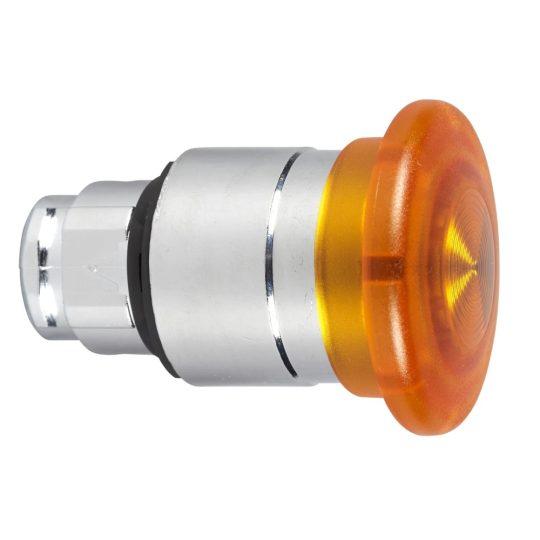 Schneider ZB4BW653 Harmony fém világító nyomógomb fej, Ø22, húzásra kioldó, Ø40 gombafejű, beépített LED-hez, narancssárga