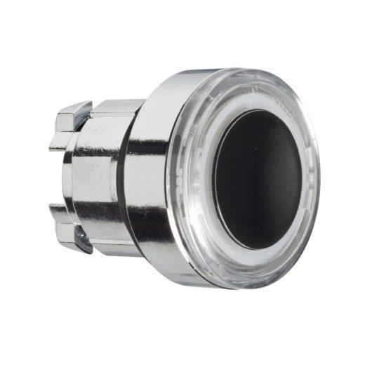 Schneider ZB4BW913 Harmony fém világító nyomógomb fej, Ø22, visszatérő, fehéren világító perem