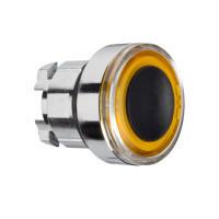 Schneider ZB4BW953 Harmony fém világító nyomógomb fej, Ø22, visszatérő, narancssárgán világító perem