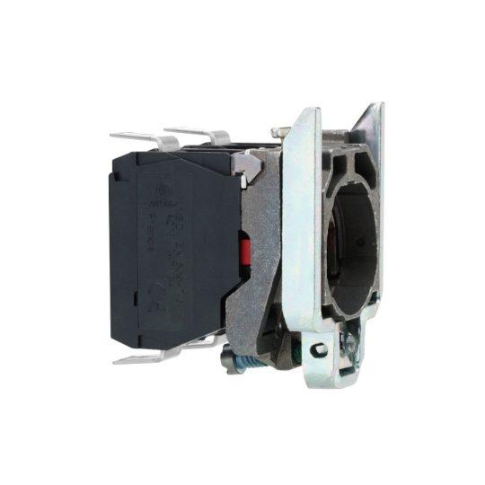 Schneider ZB4BZ1013 Harmony fém rögzítőaljzat és érintkezőblokk, 1NO, faston csatlakozós
