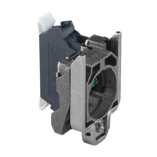 Schneider ZB4BZ1015 Harmony fém rögzítőaljzat és érintkezőblokk, 1NO, rugós csatlakozós