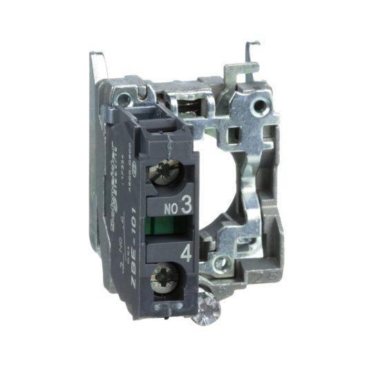 Schneider ZB4BZ101TQ Harmony fém rögzítőaljzat és érintkezőblokk, 1NO 100 darabos csomagban