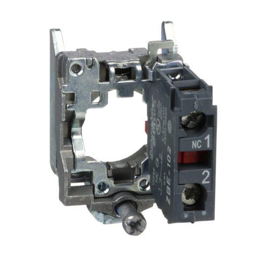 Schneider ZB4BZ102 Harmony fém rögzítőaljzat és érintkezőblokk, 1NC