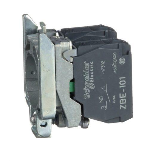 Schneider ZB4BZ103TQ Harmony fém rögzítőaljzat és érintkezőblokk, 2NO 100 darabos csomagban