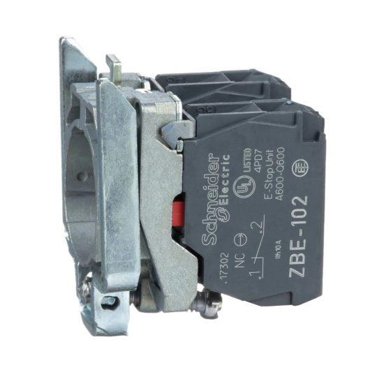Schneider ZB4BZ104 Harmony fém rögzítőaljzat és érintkezőblokk, 2NC
