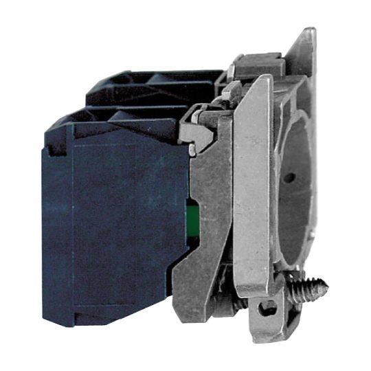 Schneider ZB4BZ1053 Harmony fém rögzítőaljzat és érintkezőblokk, 1NO+1NC, faston csatlakozós
