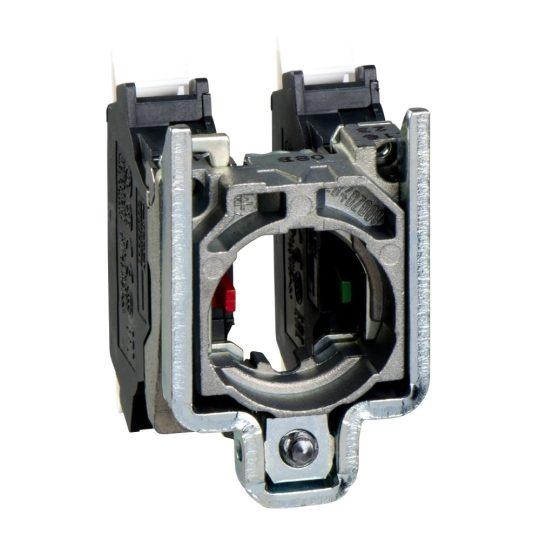 Schneider ZB4BZ1055 Harmony fém rögzítőaljzat és érintkezőblokk, 1NO+1NC, rugós csatlakozós