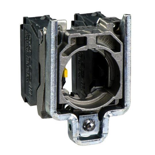 Schneider ZB4BZ106 Harmony fém rögzítőaljzat és érintkezőblokk, 1NO+1NC átlapolt