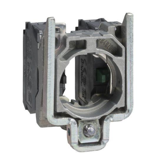 Schneider ZB4BZ107 Harmony fém rögzítőaljzat és érintkezőblokk, 2NC sorrendi