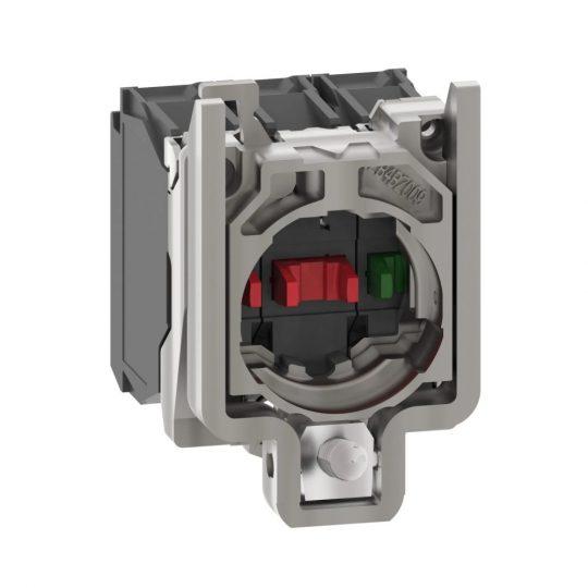Schneider ZB4BZ141 Harmony fém rögzítőaljzat és érintkezőblokk, 1NO+2NC