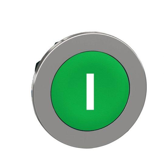 """Schneider ZB4FA331 Harmony panelbe süllyesztett fém nyomógomb fej, Ø30, zöld, """"I"""""""
