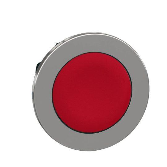 Schneider ZB4FA4 Harmony panelbe süllyesztett fém nyomógomb fej, Ø30, visszatérő, piros