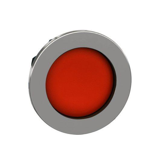 Schneider ZB4FA46 Harmony panelbe süllyesztett fém nyomógomb fej, Ø30, visszatérő, mélyítet, piros