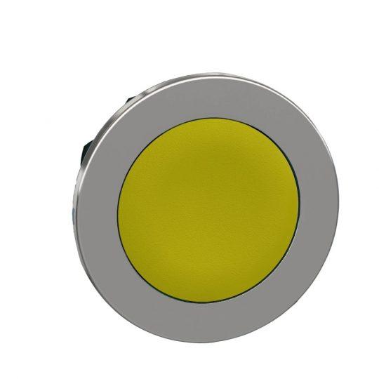 Schneider ZB4FA5 Harmony panelbe süllyesztett fém nyomógomb fej, Ø30, visszatérő, sárga