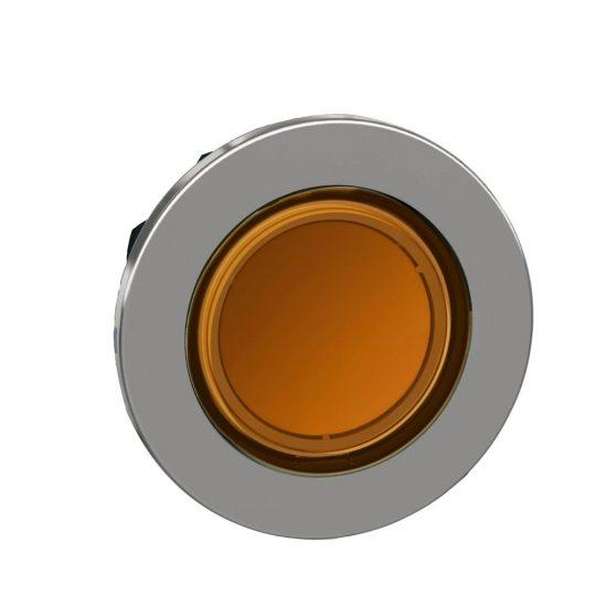 Schneider ZB4FA58 Harmony panelbe süllyesztett fém nyomógomb fej, Ø30, visszatérő, címkézhető tetővel, sárga