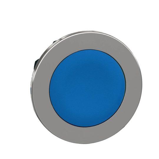 Schneider ZB4FA6 Harmony panelbe süllyesztett fém nyomógomb fej, Ø30, visszatérő, kék