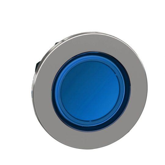 Schneider ZB4FA68 Harmony panelbe süllyesztett fém nyomógomb fej, Ø30, visszatérő, címkézhető tetővel, kék