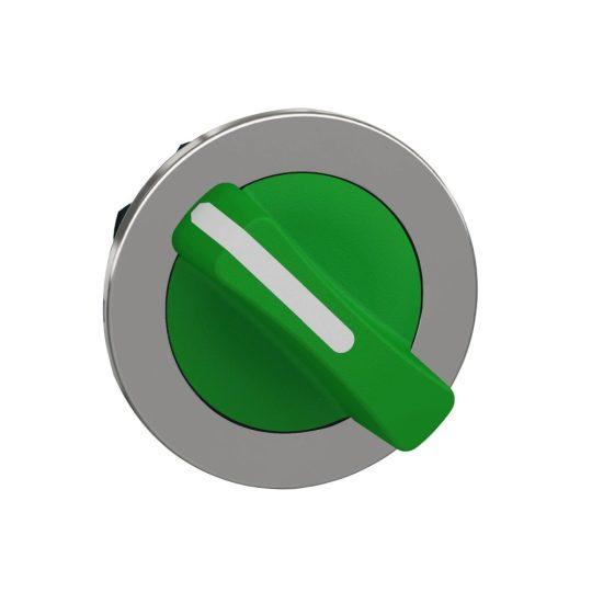 Schneider ZB4FD203 Harmony panelbe süllyesztett fém választókapcsoló fej, Ø30, 2 állású, zöld