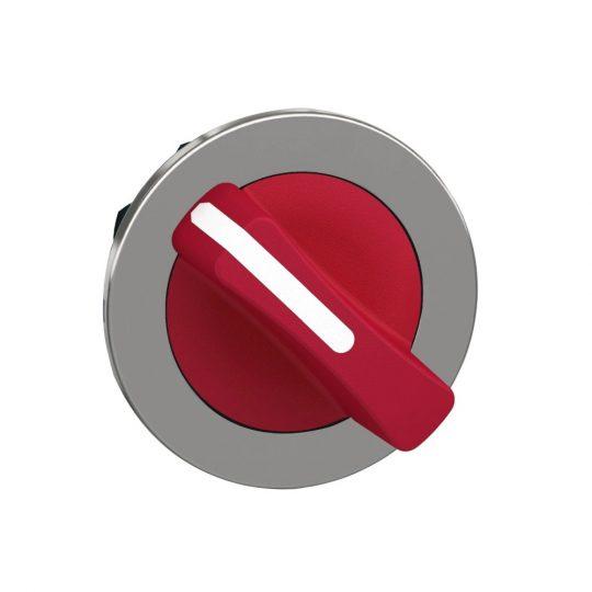 Schneider ZB4FD204 Harmony panelbe süllyesztett fém választókapcsoló fej, Ø30, 2 állású, piros